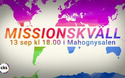 Missionskväll 13 september