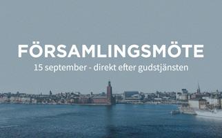 Församlingsmöte 15 september