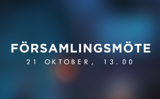 Församlingsmöte 21 oktober
