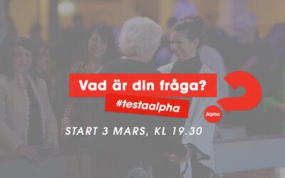 Alpha – start 3 mars