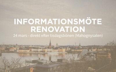 OBS! Framflyttat – Informationsmöte
