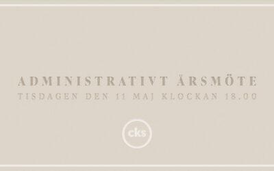 Administrationsmöte | 11 Maj